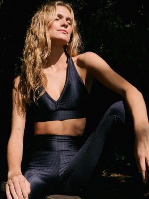 Legging Preta Newvision Brilho E Textura Fashion