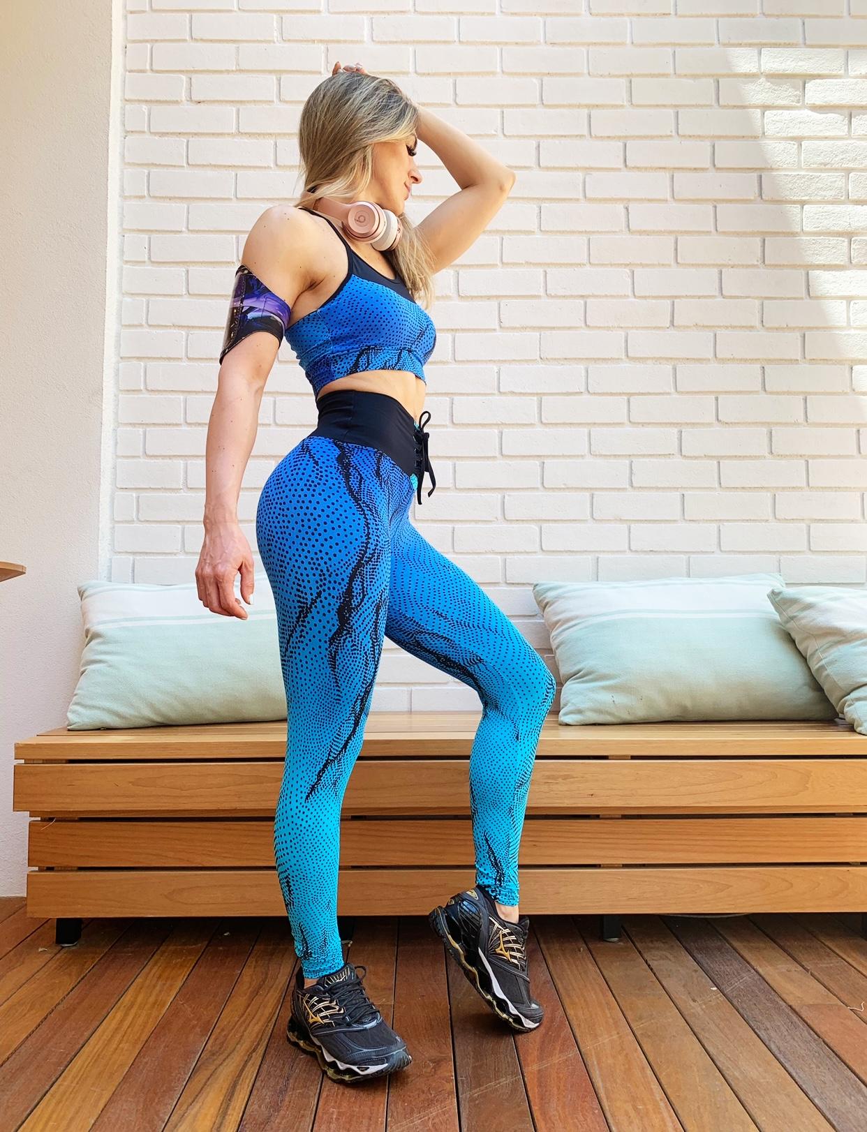 Conjunto Azul Vida Top E Legging